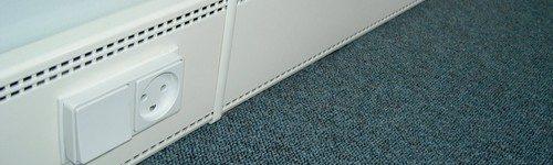 U kunt de verwarming voorzien van een blindpaneel met vooraf in gevreesde gaten tbv stroom voorziening